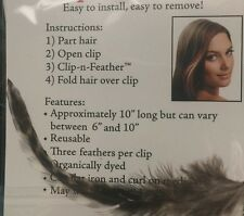 Feather Hair Clip Extension, Real fuchia Feathers, Easy Open/Close Clip! USA