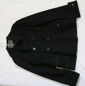 Womens Ben Sherman Wool Blend Black Coat SZ M