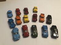 Vintage Lot of 15 Tootsie Toy Cars & Trucks Including Corvette Porsche, Firebird