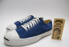 MENS VINTAGE CONVERSE JACK PURCELL BLUE SUEDE SHOES SZ 8.5~1/2 MADE IN THE USA