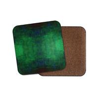 Emerald Green Pattern Coaster - Tie Die Mirror Image Cool Grunge Dad Gift #16506