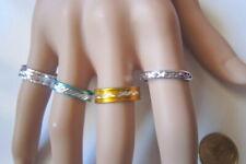 Lote 4 anillos aluminio colores nº 8 ó 17 mm diámetro medio bisutería r-24