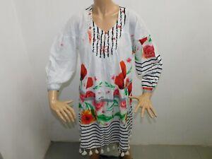 Vestitino Positano donna Taglia Unica Abito Lungo woman Dress veste Cotone Lungo