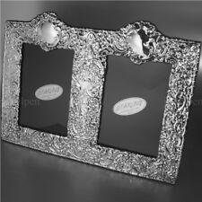 Victorian Antique Vintage Doppel Fotorahmen massives 925 Sterling Silber