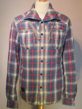 Firetrap Red & Blue Check Shirt - Size M
