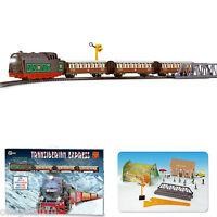 Tren Electrico Metalico con LUZ Expreso Transiberiano Pequetren + Accesorios 450