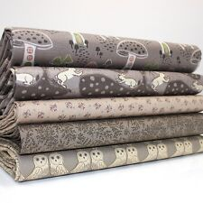 FQ Bundle-Bosque Encantado-Chocolate X 5-Tela De Algodón Patchwork Quilting