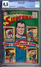 Superman #100 CGC 4.5 DC 1955 Anniversary Issue! #1 #25 #50 #75 on Cover! L3 cm