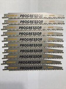 "10 Bosch Progressor Reciprocating Saw Blades 8"" 6/12 TPI  For Sawzalls"