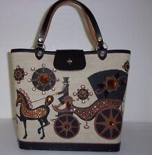 Vintage Enid Collins Carriage Trade Jeweled Rhinestone Horse Purse Handbag Bag