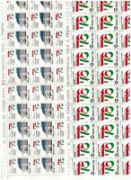 S17047) Italy 1976 MNH New Esp. Philatelic Italy 2v Sheets Whole Folded