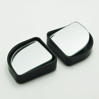 2 Black BLIND SPOT Car Van Bikes MIRROR Towing Reversing Self ADHESIVE Stick On