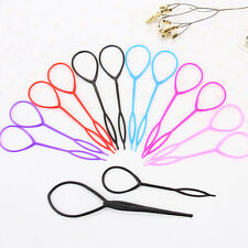 4 pcs(2 pairs) Topsy Tail Hair Braid Ponytail Maker Styling Tool from 7 colors