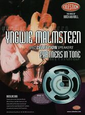 Yngwie Malmsteen Celestion Speakers 2002 8x11 Promo Poster Ad