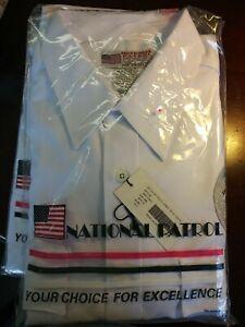 National Patrol Security Uniform Shirt, Mens Long Sleeve Gray, 18-18.5  - 34/35