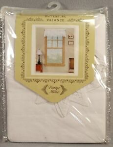 Battenburg Lace Valance Cotton White 60 x 14 inches New in Package
