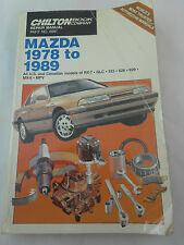 Chilton Automotive Repair Manual: Mazda 1978 to 1989 All US & Canadian Models