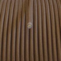 3x0,75 H03VV Textilkabel, Textilfaser umflochtene Leitung, rund, braun