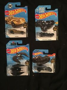 BATMAN BATMOBILE lot x 4 Justice League Arkham Knight Batplane DC Comics NEW
