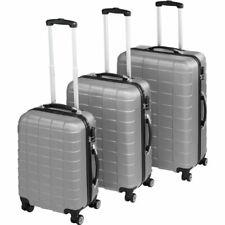 TecTake 402672 Set de Maletas de Viaje 3 Piezas - Plata