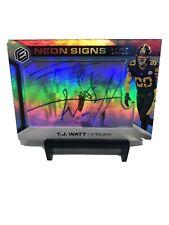 2019 Panini Elements TJ Watt Neon Signs Auto /15