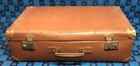 Belle ancienne valise rétro vintage Rigide Marron H 18,5 L 60 l 35 cm #35