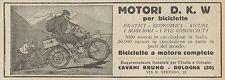 Y7902 Biciclette a motore D.K.W. - Pubblicità d'epoca - 1925 Old advertising