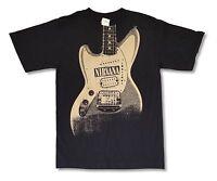 NIRVANA - Guitar Logo T-shirt - Size Small S - NEW - Grunge Kurt Cobain *