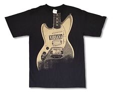 NIRVANA - Guitar Logo T-shirt - Size Extra Large XL - NEW - Grunge Kurt Cobain