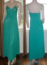 Emerald Green Vintage Mr Jac Jr Size 9 Long Nightgown Diamond Shape Bodice