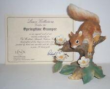 Lenox Woodland Animal Collection Springtime Scamper Red Squirrel  Box & COA