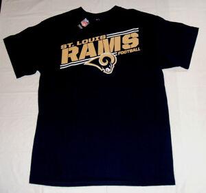 St. Louis Rams Football Majestic Mens Large T-Shirt Brand New w Tag Team Apparel