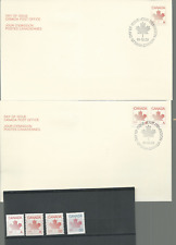 """Canada Scott # 907-8, 923 & 950 Maple Leaf """"A""""  & 30 CENTS 4 FDC'S & MNH STAMPS"""