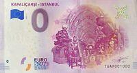 BILLET 0  EURO  KAPALICARSI - ISTANBUL TURQUIE  2019  NUMERO 1000