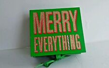 "Bath & Body Works "" MERRY EVERYTHING"" empty Gift/Treasure Box 7.5"" X 6.5"""