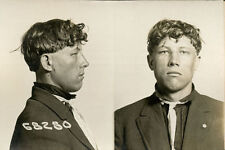 1916, ORIGINAL crime mugshot / card, KROLL, poland, deadly weapon, CHICAGO PD