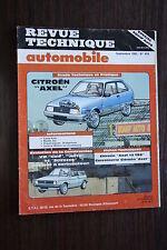 REVUE TECHNIQUE AUTOMOBILESEPTEMBRE 1985 N°459 CITROEN AXEL-VW GOLF CAB
