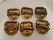 Vintage Drawer Round PULLS Handles Set of 6 Mid-Century Modern Bronze Colored JA