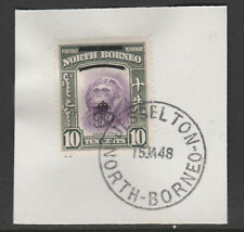 North Borneo 6014 - 1947 KG6 CROWN COLONY 10c with MADAME JOSEPH FORGED POSTMARK