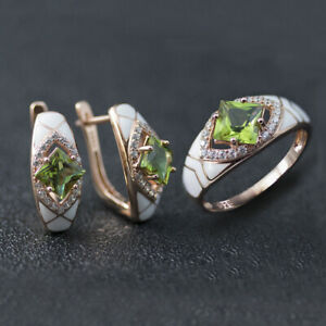 Color Change Sultanit Jewelry Sets S925 Silver Diaspore Ring Earrings for Womens