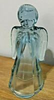 """VINTAGE FENTON ART GLASS VINTAGE ICE BLUE 6"""" ANGEL FIGURINE ORIGINAL TAG"""