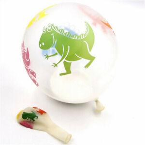 10X Dinosaur Balloons Kids Toys Transparent Dinosaur Party Supplies Latex Decor