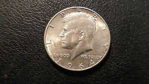 1964 US KENNEDY SILVER HALF DOLLAR 50 Cent Coin Circulated