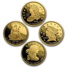 4-Coin Gold First Spouse Liberty Proof Set (with Box/COA) - SKU #97964