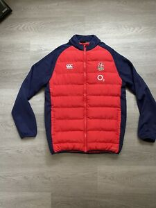 England Vaposhield Rugby Union Canterbury Red / Blue Mens Jacket - Size XL