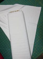 "2 Yards Stretch RAYON Fabric 56"" Wide WHITE  97% Rayon 3% Lycra"