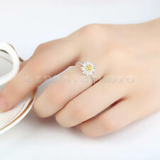 Women Lady Daisy Flower Open Finger Ring Adjustable Jewelry Charms Party Gifts