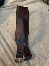 Leather Rear Cinch