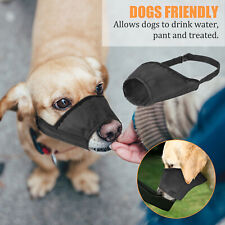 Black Adjustable Pet Dog Muzzle Fabric Safety Biting Chewing Anti-Stop Barking