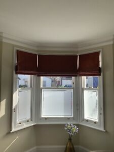 Bay window Roman blinds x 3 Fits Victorian Terrace bay and side